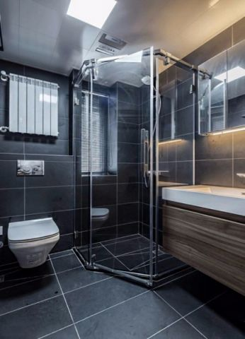 卫生间背景墙现代简约风格装潢效果图