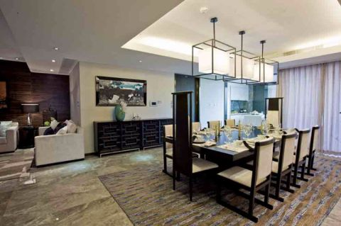 餐厅吊顶新中式风格装修设计图片