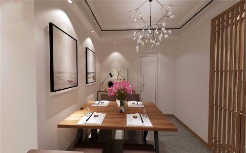 餐厅背景墙现代简约风格效果图