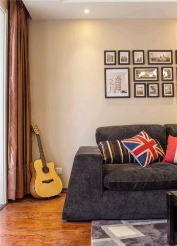 客厅窗帘现代简约风格装饰图片