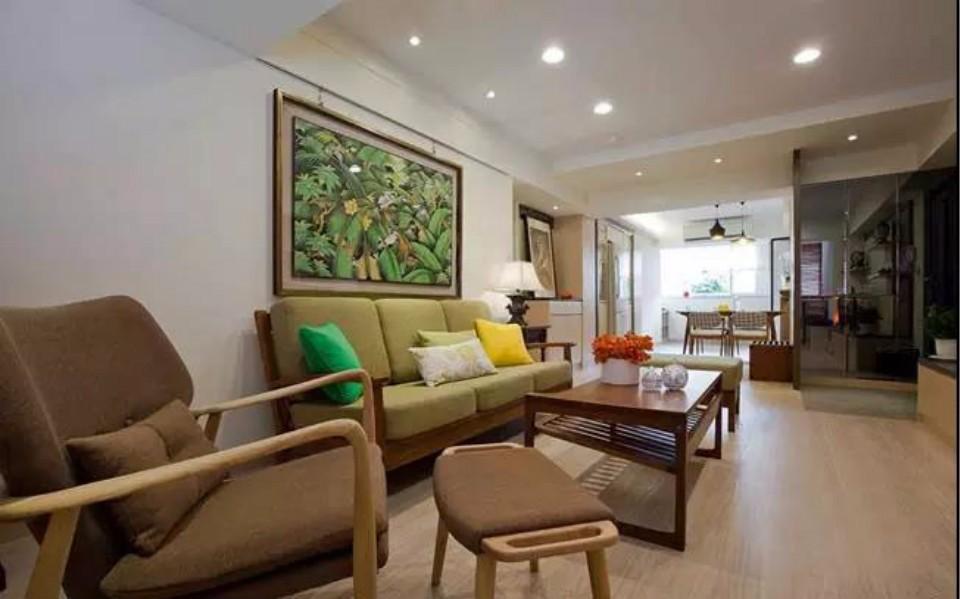 2室1卫1厅102平米新中式风格