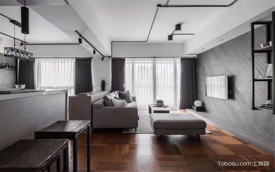 金地悦峰160现代风格三居室装修效果图