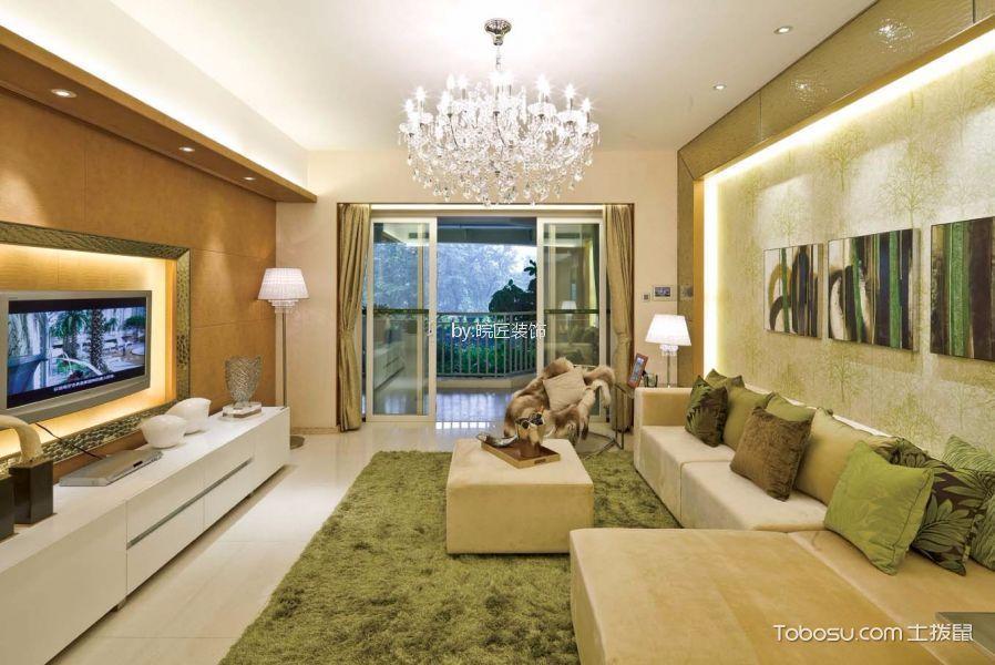 蓝鼎翰林院110平现代简约风格三居室装修效果图