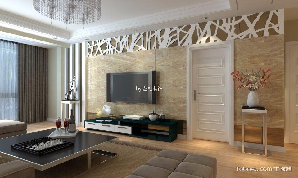 100平简约风格两室两厅装修效果图