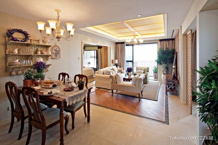 7.6万预算99平米两室两厅装修效果图