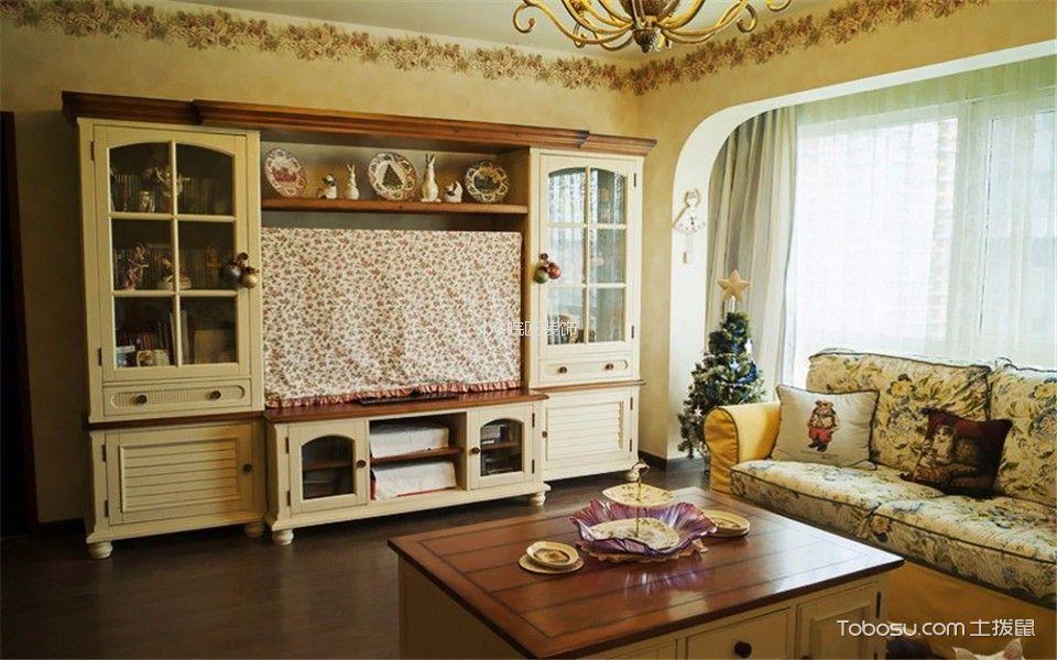 客厅 电视柜_6.3万预算112平米三室两厅装修效果图