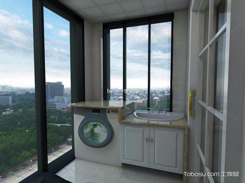 阳台白色落地窗现代简约风格装修效果图