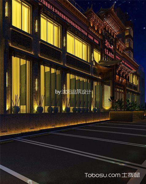昌图·渝江川火锅店夜景外墙设计效果图