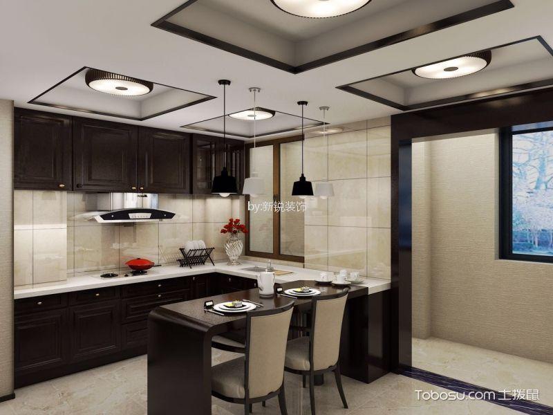 厨房 吊顶_ 新中式风格三室两厅装修效果图