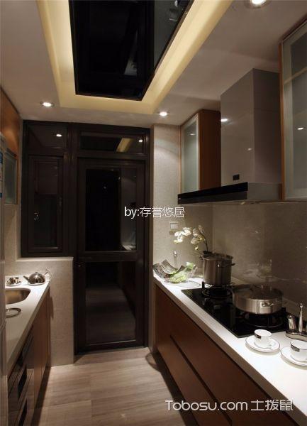 厨房 吊顶_路劲城126平米现代简约风格装修效果图