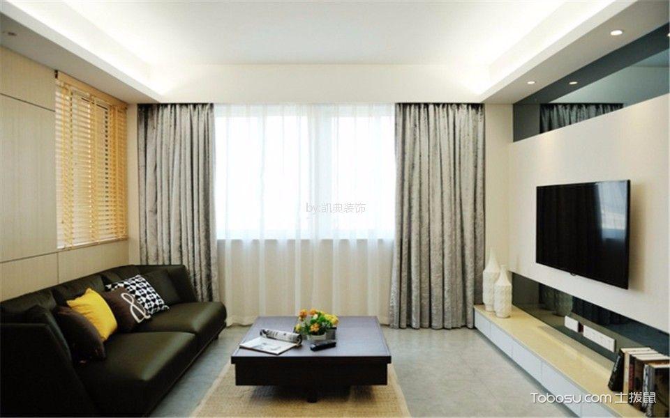 丽景华庭80平简约风格二居室装修效果图