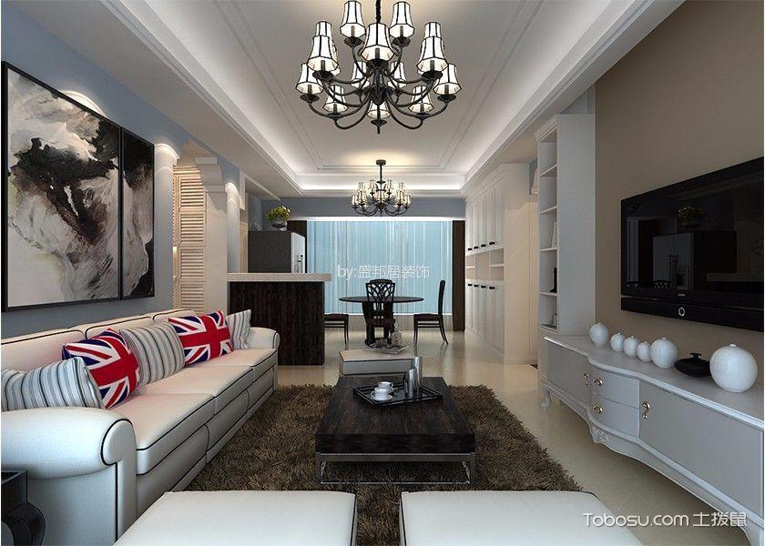 星河丹堤115平现代美式风格套房装修效果图