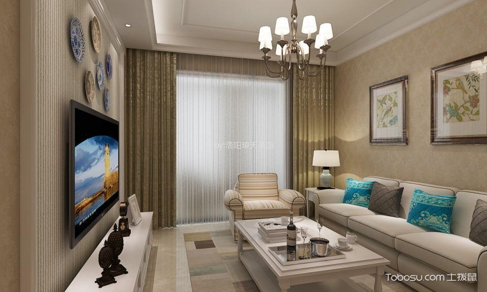 4万预算100平米两室两厅装修效果图