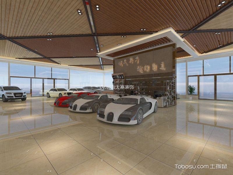 750平米现代风格汽车展厅洽谈区背景墙装修图片