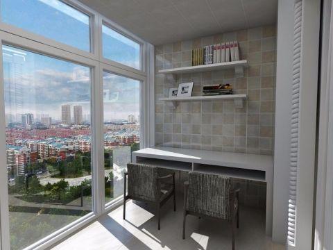 阳台书桌简约风格装饰设计图片