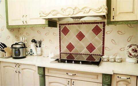 厨房背景墙美式风格装饰图片