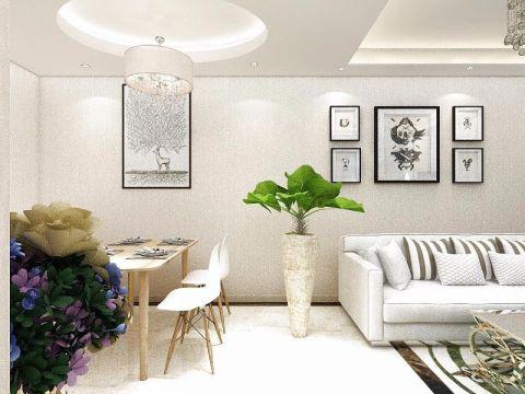 11万预算100平米两室两厅装修效果图