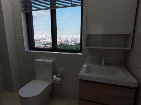 卫生间窗台简约风格装饰设计图片