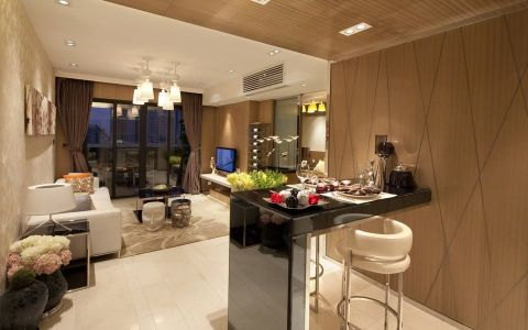 客厅吧台现代风格装饰效果图