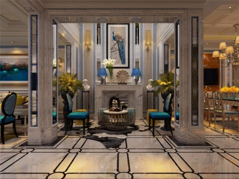 玄关门厅简欧风格装潢图片