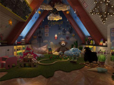儿童房吊顶简欧风格装潢设计图片