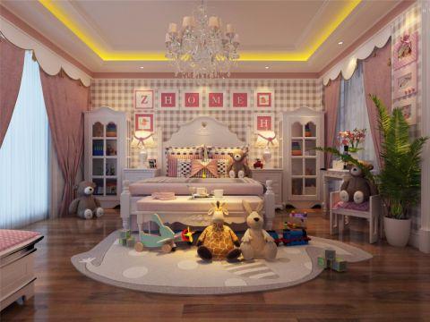 儿童房窗帘简欧风格效果图