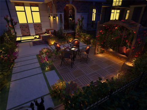 花园走廊简欧风格装潢效果图