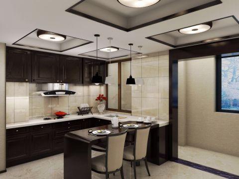 厨房吧台新中式风格装修效果图