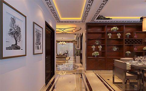 餐厅走廊中式风格装潢效果图