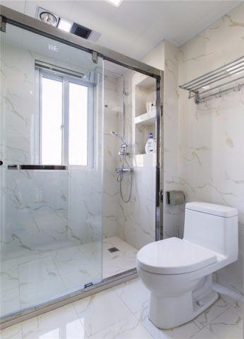 卫生间窗台现代简约风格装潢效果图