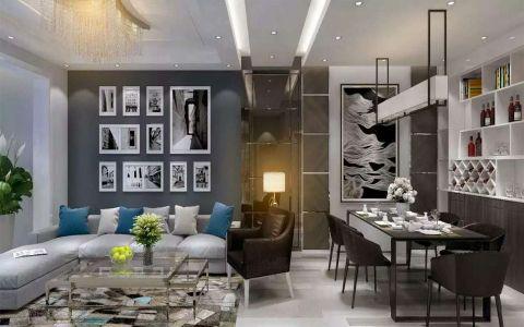 3.768万预算90平米两室两厅装修效果图