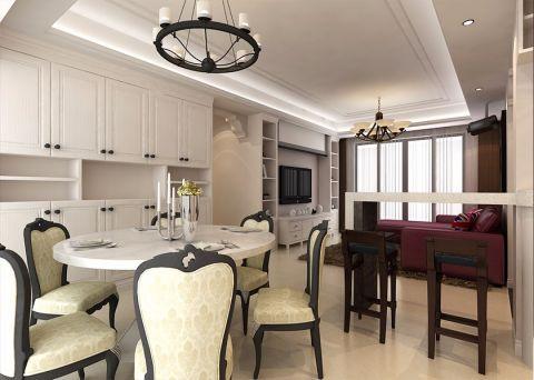 10万预算115平米三室两厅装修效果图