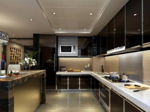 朗琴湾140平米后现代风格三居室装修效果图