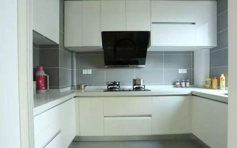 厨房简约风格装潢图片