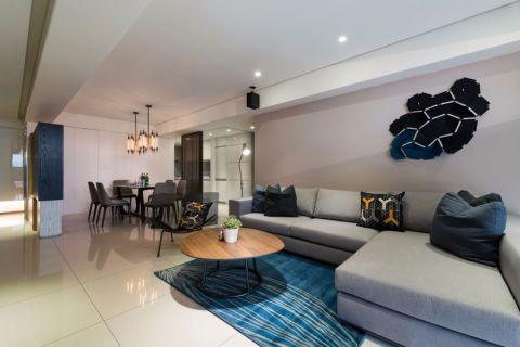 弘阳广场120现代风格公寓装修效果图