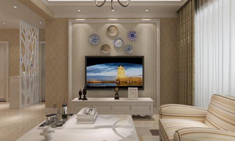 国宝华府100平现代风格二居室装修效果图