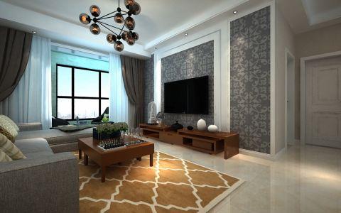 升龙城120平简约风格三居室装修效果图
