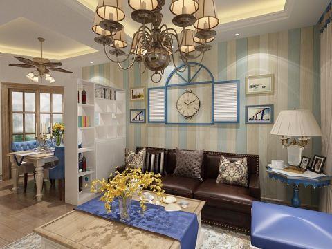 90平地中海风格二居室装修效果图