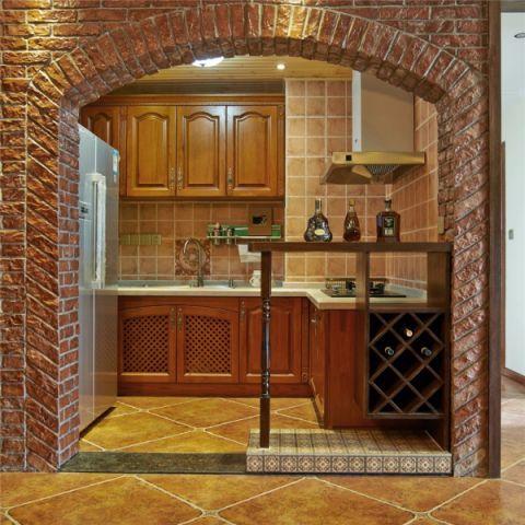 厨房门厅美式风格装潢设计图片