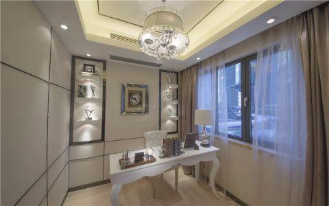 书房窗帘现代简约风格装潢设计图片