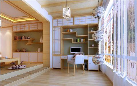阳台背景墙日式风格装饰图片