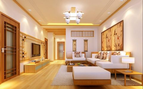 140平日式风格三居室装修效果图