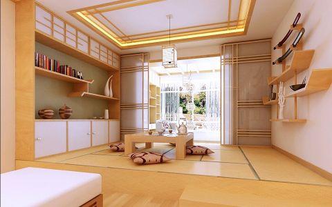 客厅榻榻米日式风格装修设计图片