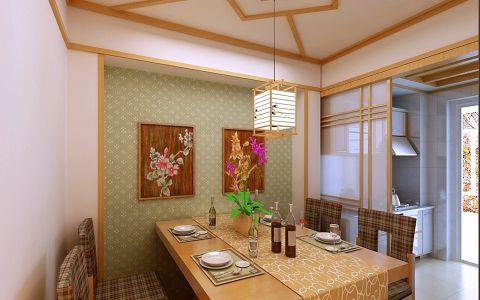 餐厅背景墙日式风格装潢设计图片