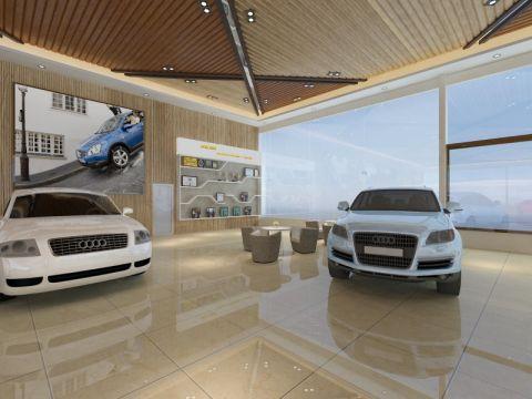 750平米现代风格汽车展厅装修效果图