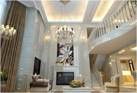 客厅照片墙欧式风格装潢图片