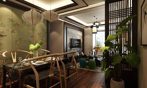 方圆经纬90平新中式风格二居室装修效果图