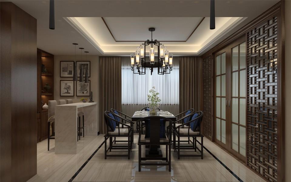 4室3卫2厅250平米新中式风格