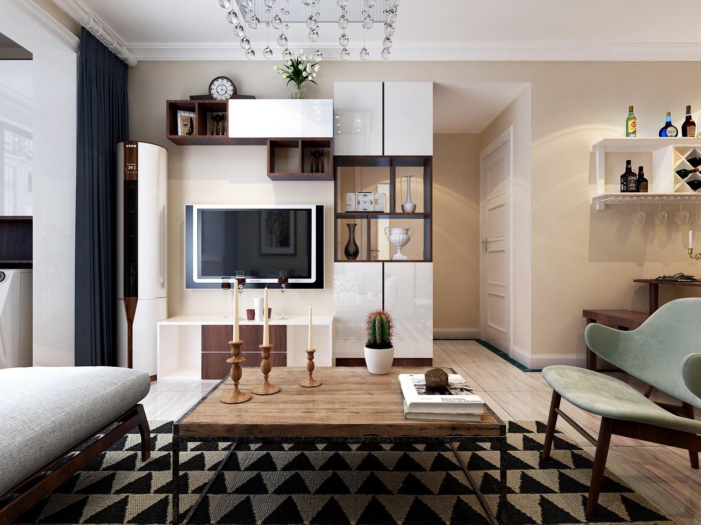 2室1卫2厅100平米简约风格