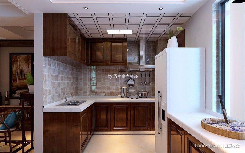 厨房 吊顶_原乡溪谷180新中式风格装修效果图